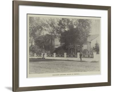 President Kruger's House at Pretoria--Framed Giclee Print