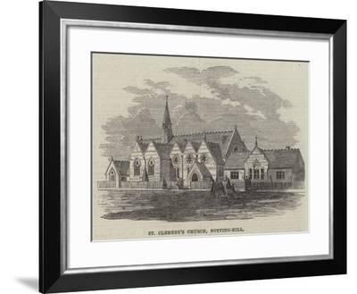 St Clement's Church, Notting-Hill--Framed Giclee Print
