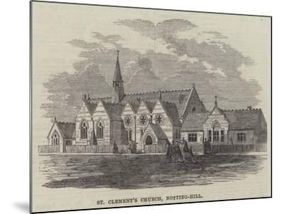 St Clement's Church, Notting-Hill--Mounted Giclee Print