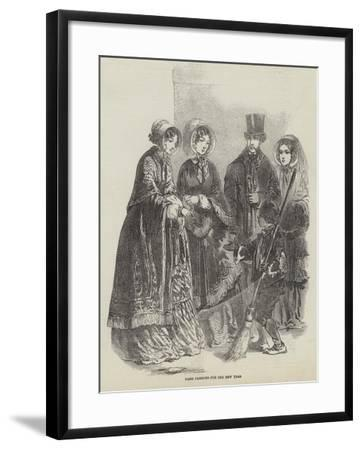 Paris Fashions for the New Year--Framed Giclee Print