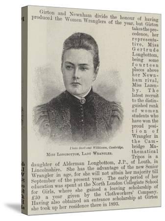 Miss Longbottom, Lady Wrangler--Stretched Canvas Print