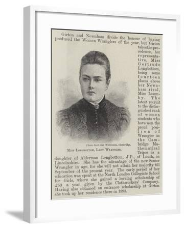 Miss Longbottom, Lady Wrangler--Framed Giclee Print