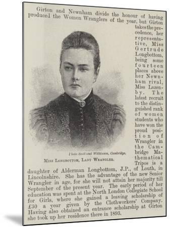 Miss Longbottom, Lady Wrangler--Mounted Giclee Print