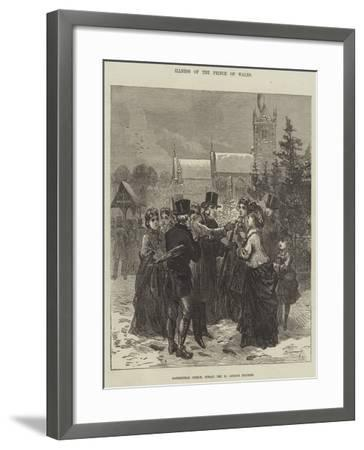 Illness of the Prince of Wales--Framed Giclee Print