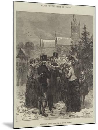Illness of the Prince of Wales--Mounted Giclee Print