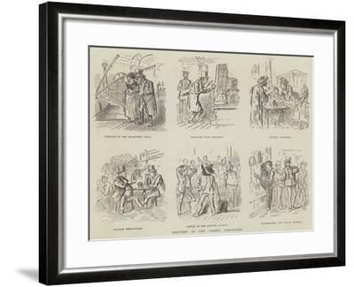 Sketches at the Vienna Exhibition--Framed Giclee Print