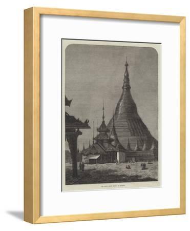 The Shwei Dagon Pagoda at Rangoon--Framed Giclee Print
