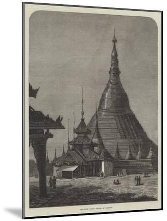 The Shwei Dagon Pagoda at Rangoon--Mounted Giclee Print