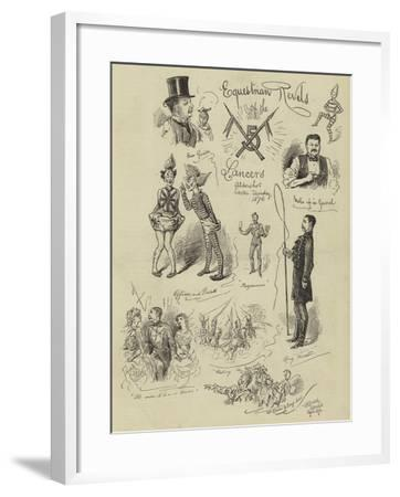 Equestrian Revels of the Lancers--Framed Giclee Print
