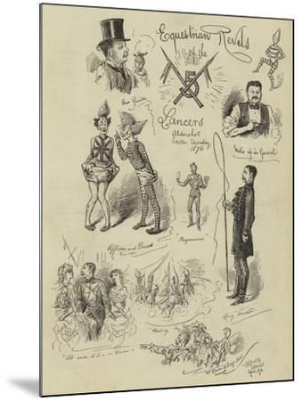 Equestrian Revels of the Lancers--Mounted Giclee Print