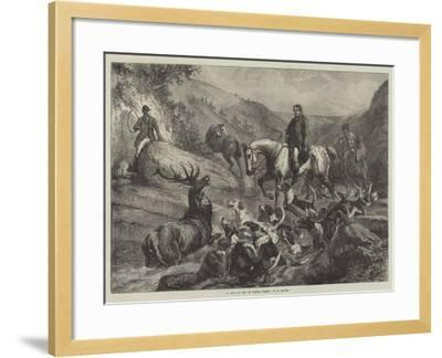 A Stag at Bay on Exmoor Forest--Framed Giclee Print