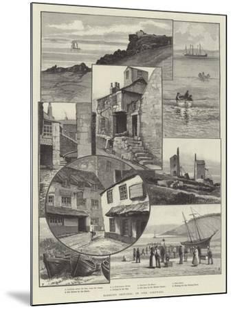 Rambling Sketches, St Ives, Cornwall--Mounted Giclee Print
