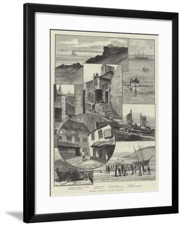 Rambling Sketches, St Ives, Cornwall--Framed Giclee Print