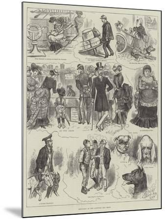 Sketches at the Antwerp Dog Show--Mounted Giclee Print