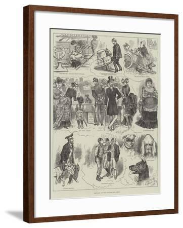 Sketches at the Antwerp Dog Show--Framed Giclee Print