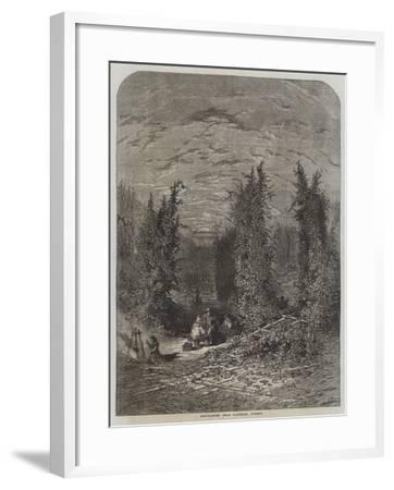 Hop-Garden Near Farnham, Surrey--Framed Giclee Print