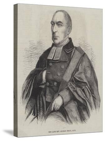 The Late Reverend George Croly--Stretched Canvas Print