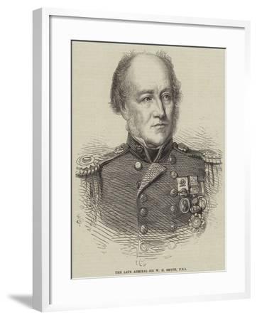 The Late Admiral Sir W H Smyth--Framed Giclee Print