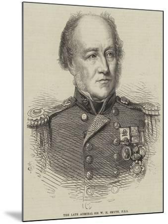 The Late Admiral Sir W H Smyth--Mounted Giclee Print