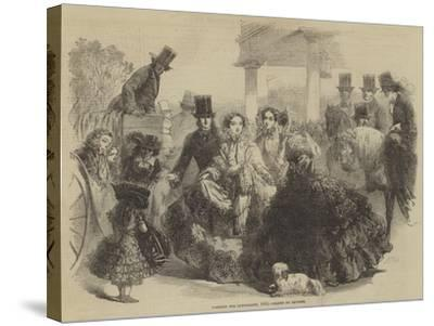Fashions for Longchamps, 1855--Stretched Canvas Print