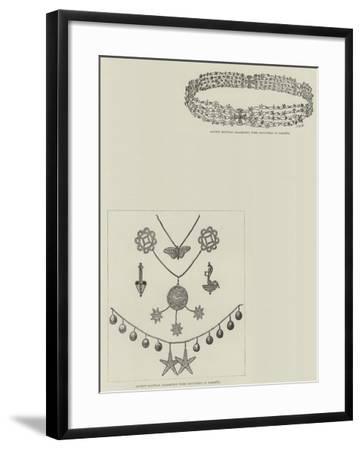 M De Morgan's Discoveries at Dahshur--Framed Giclee Print