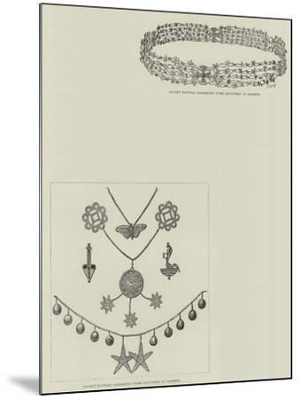 M De Morgan's Discoveries at Dahshur--Mounted Giclee Print