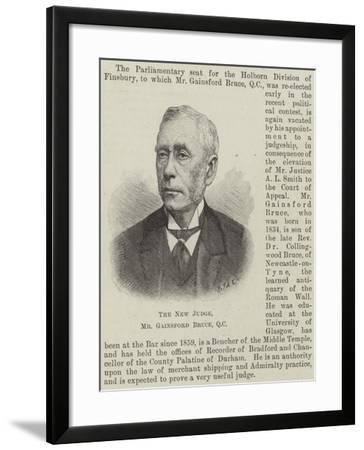 The New Judge, Mr Gainsford Bruce--Framed Giclee Print