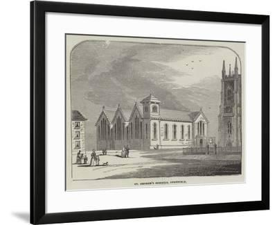 St George's Schools, Sheffield--Framed Giclee Print