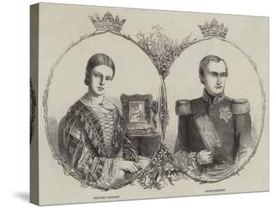 Prince Napoleon and His Bride--Stretched Canvas Print