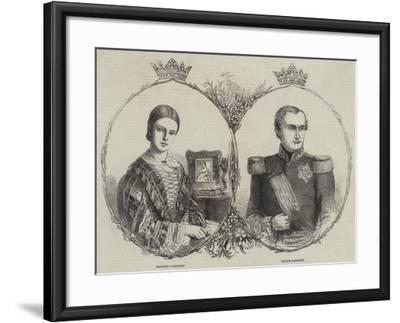 Prince Napoleon and His Bride--Framed Giclee Print