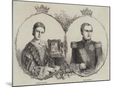 Prince Napoleon and His Bride--Mounted Giclee Print