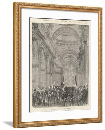 Funeral of Lord Napier of Magdala--Framed Giclee Print