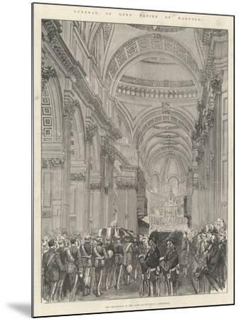 Funeral of Lord Napier of Magdala--Mounted Giclee Print