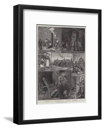 Sketches in a Cornish Tin-Mine--Framed Giclee Print