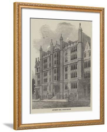 University Hall, Gordon-Square--Framed Giclee Print