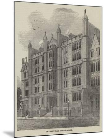 University Hall, Gordon-Square--Mounted Giclee Print