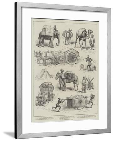 The Camp of Exercise at Delhi--Framed Giclee Print
