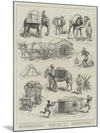 The Camp of Exercise at Delhi--Mounted Giclee Print
