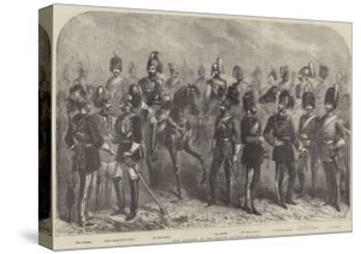New Uniforms of the British Cavalry--Stretched Canvas Print