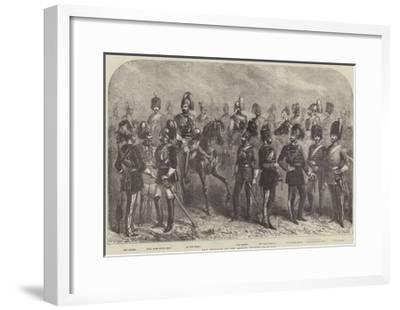 New Uniforms of the British Cavalry--Framed Giclee Print