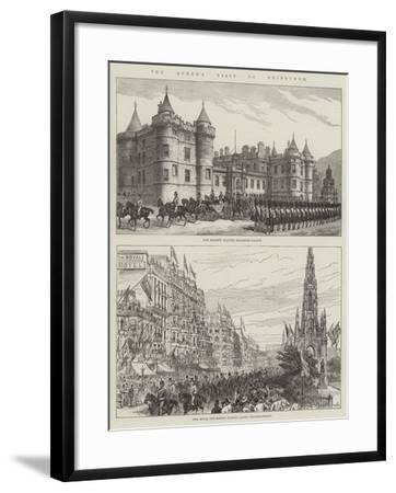 The Queen's Visit to Edinburgh--Framed Giclee Print