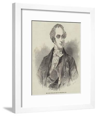 His Grace the Late Duke of Newcastle--Framed Giclee Print
