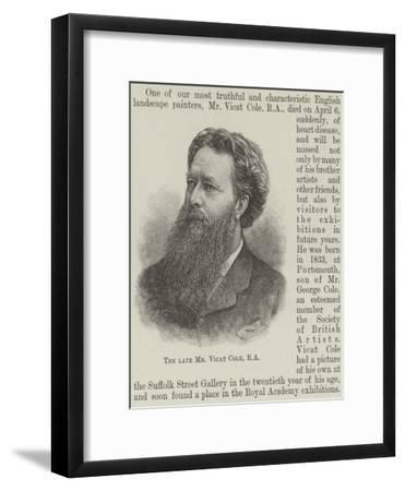 The Late Mr Vicat Cole--Framed Giclee Print