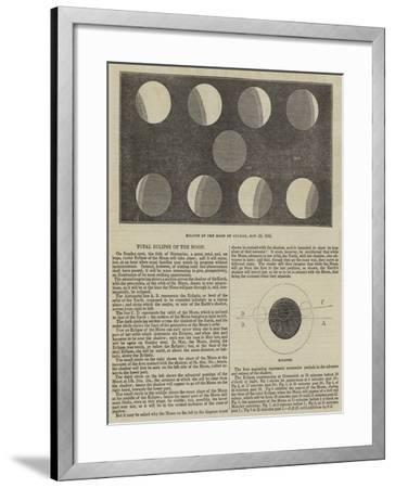 Total Eclipse of the Moon--Framed Giclee Print
