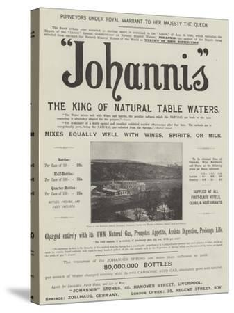 Advertisement, Johannis--Stretched Canvas Print