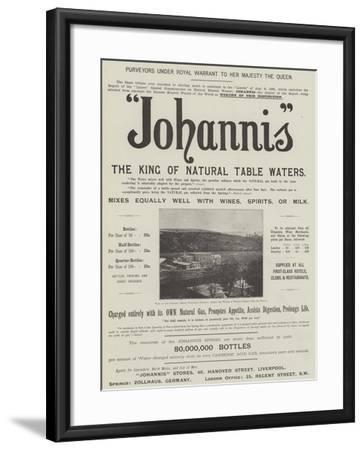 Advertisement, Johannis--Framed Giclee Print