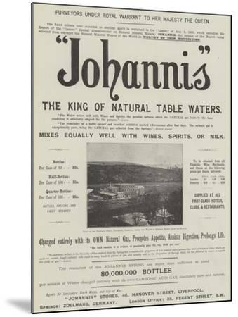 Advertisement, Johannis--Mounted Giclee Print