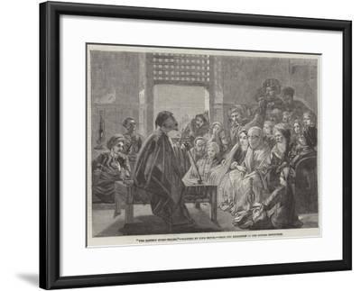 The Eastern Story-Teller--Framed Giclee Print