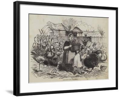 Preparing for Christmas--Framed Giclee Print