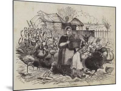 Preparing for Christmas--Mounted Giclee Print